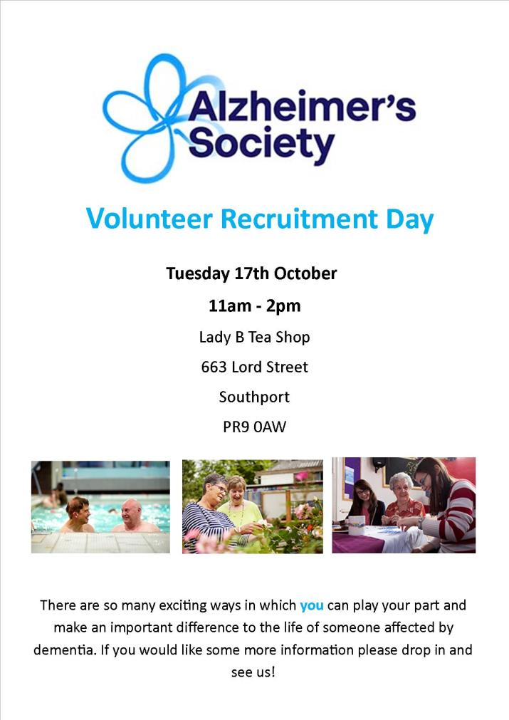 Recruitment Day Poster (2) alzheimers Society